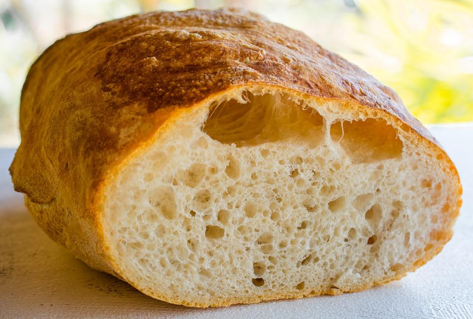 bread, white bread, bílé pečivo, ciabatta