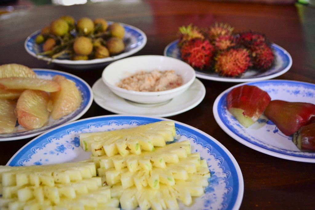 ochutnávka, menu, ovoce, jídlo