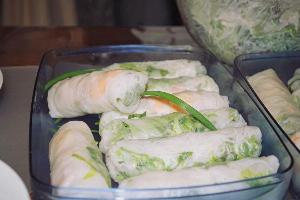 spring rolls, jídlo, jarní závitky, zelenina